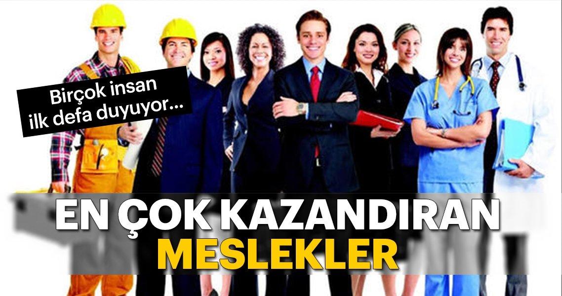 Türkiye' de En Çok Kazandıran Meslekler