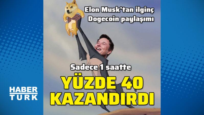 Elon Musk yine Dogecoin'i uçurdu