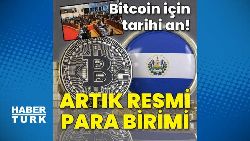 Bitcoin artık resmi para birimi